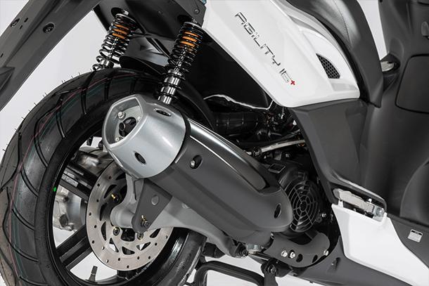 Motorroller 125ccm - KYMCO AGILITY CITY+ 125i CBS | Auspuffanlage