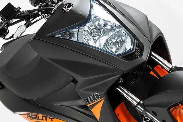 Motorroller 50ccm - Kymco Agility RS Naked 50 4T   Scheinwerfer